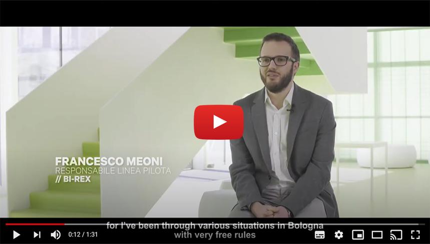 BOLOGNA START PLANNING YOUR FUTURE: Intervista a Francesco Meoni | Responsabile linea pilota | BI-REX